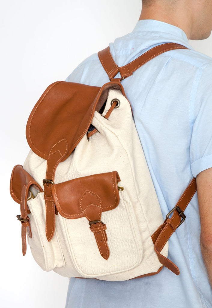 Field Backpack in Natural Canvas