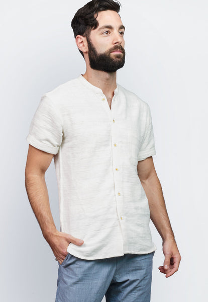 Khadi Short-sleeve Button-down Shirt