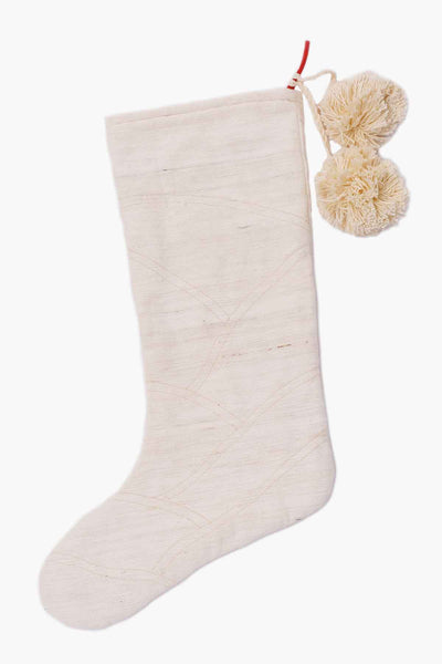 Khadi Holiday Stocking • Quilted Finish