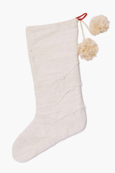 Khadi Holiday Stocking • Raw Edge Finish