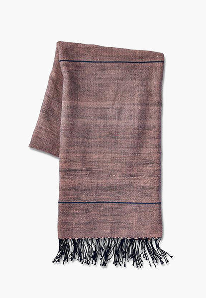 Light Pink & Grey Stripe Beach Towel