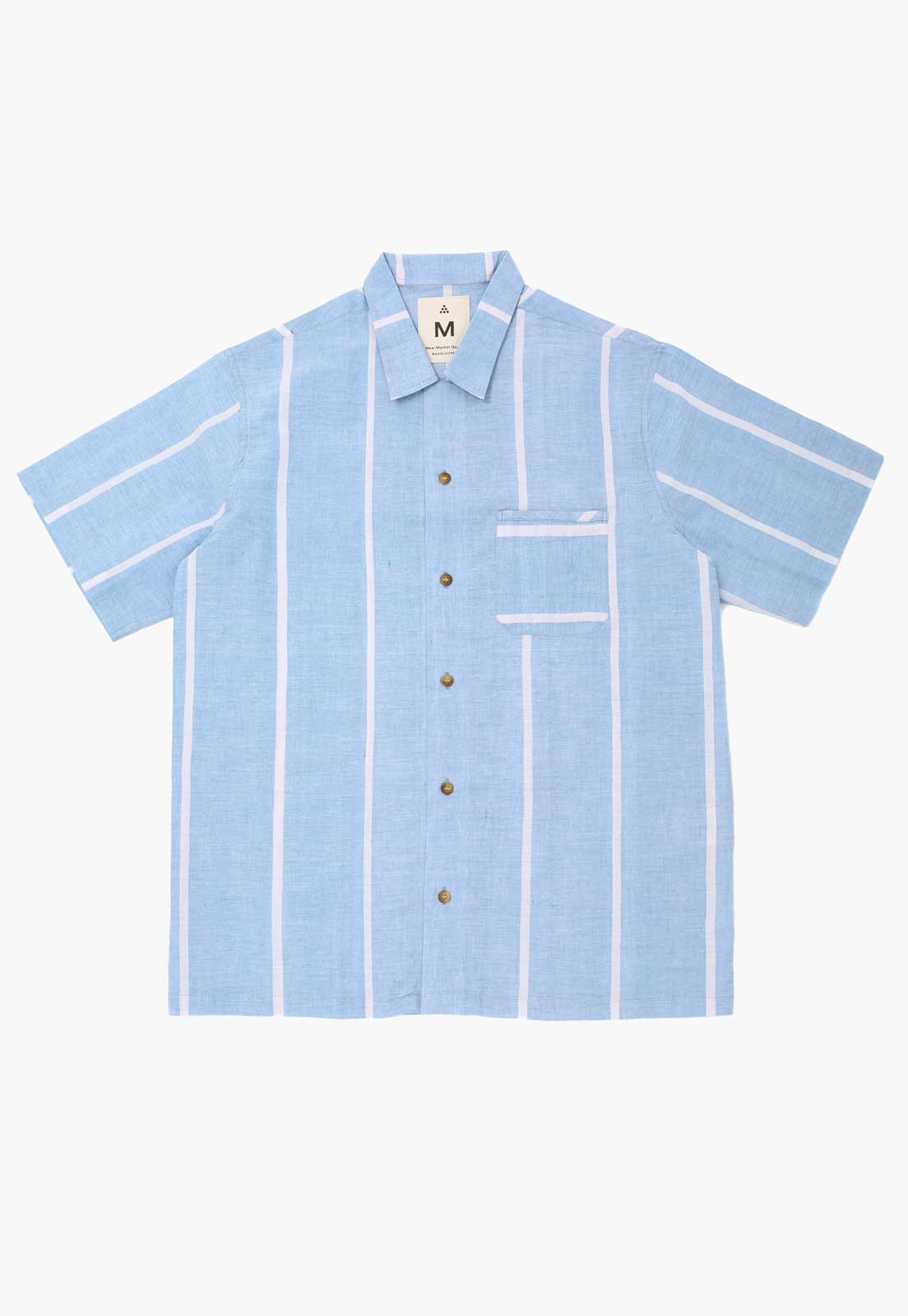 Lungi Blue Box Button-Down