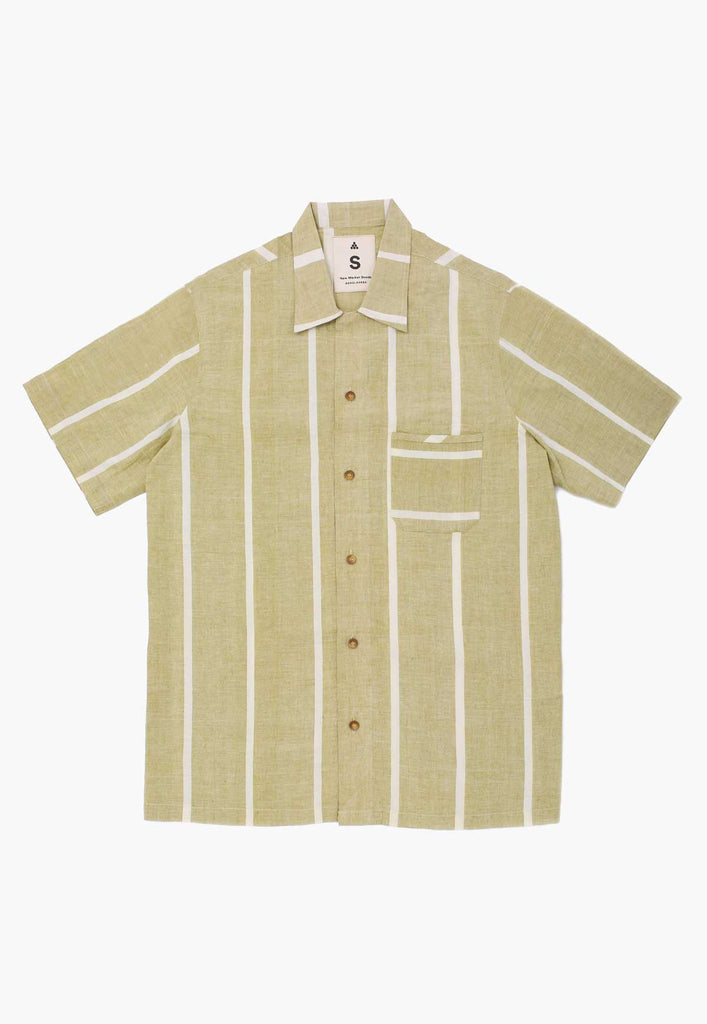 Lungi Green Box Button-Down