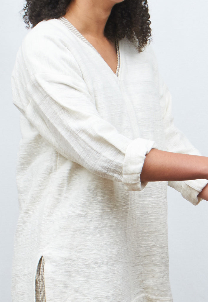 Khadi Pullover with 3/4 Sleeves