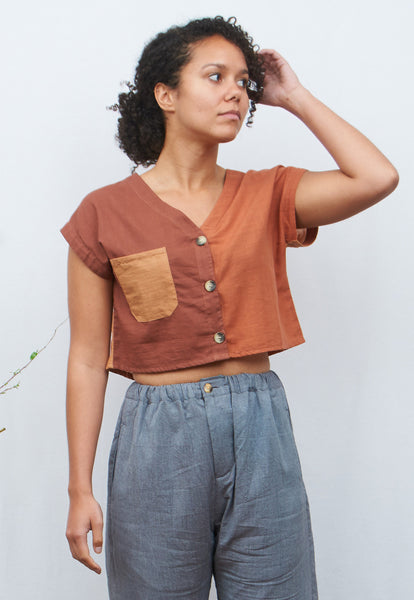 Earthtone Crop Top