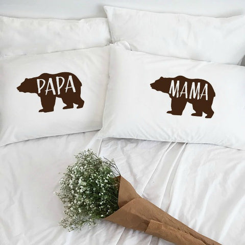 Papa Bear & Mama Bear Pillowcase Set