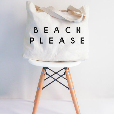 Beach Please XL Tote Bag