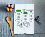 Cheat Sheet Measuring Conversions Kitchen Towel