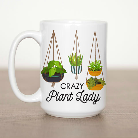Crazy Plant Lady 15 oz Mug