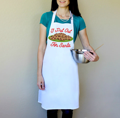 I Put Out For Santa Apron