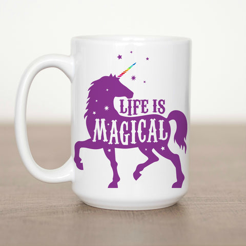 Life is Magical Unicorn 15 oz Mug