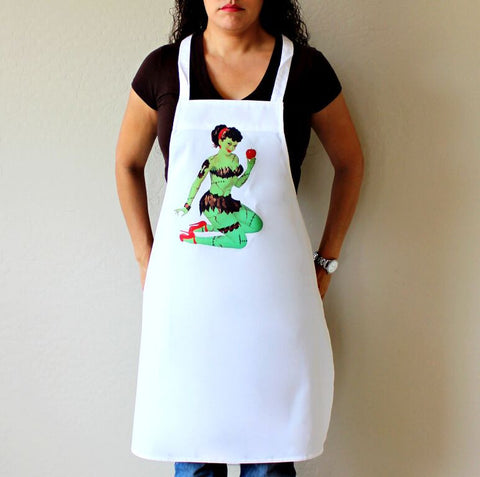 Zombie Pin Up Girl with Apple Apron
