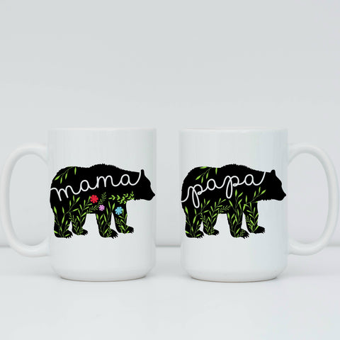 Papa Bear & Mama Bear 15 oz Mug Set