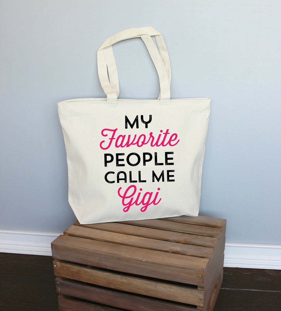 My Favorite People Call Me Gigi XL Tote Bag