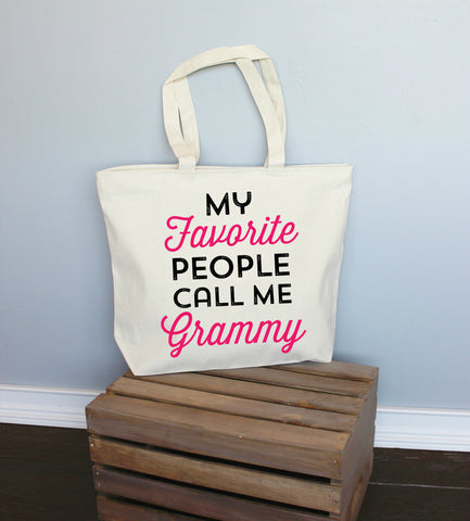 My Favorite People Call Me Grammy XL Tote Bag
