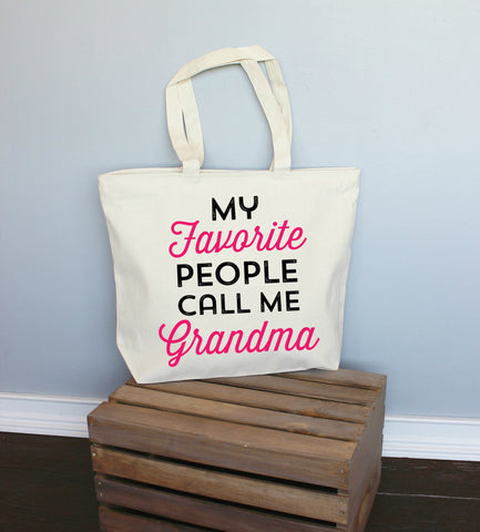 My Favorite People Call Me Grandma XL Tote Bag