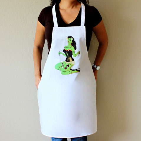 Zombie Pin Up Girl with Corset Apron
