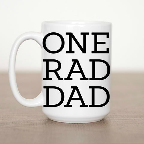 One Rad Dad 15 oz Mug