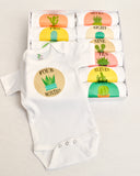 Set of 12 Monthly Milestone Bodysuits for Baby's 1st Year~ Cactus Collection