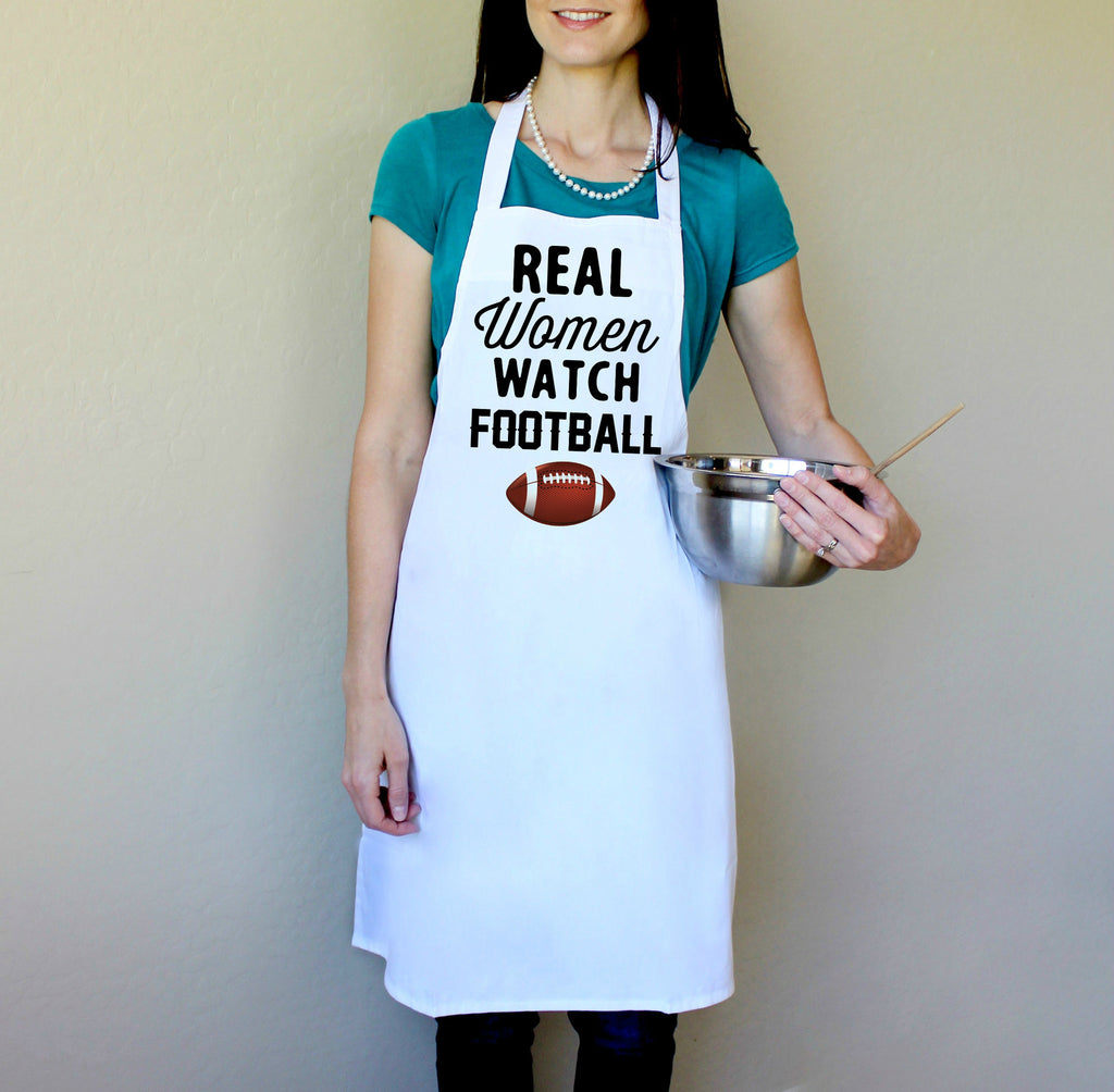 Real Women Watch Football Apron