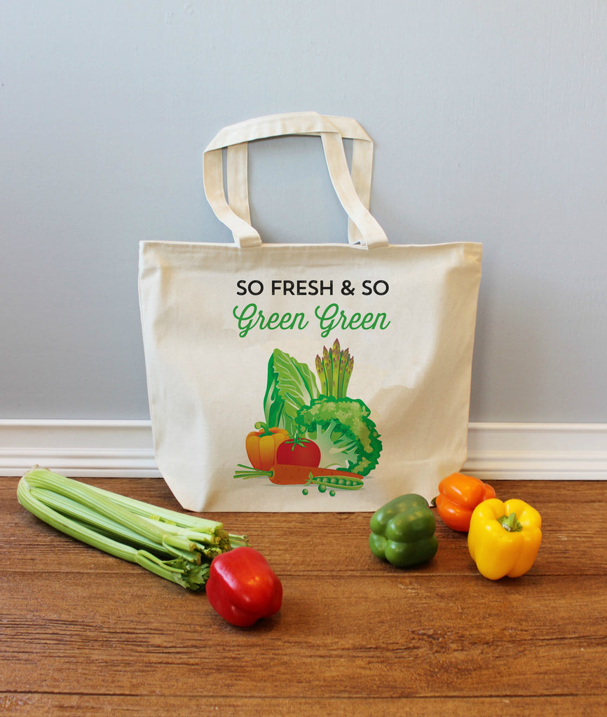 So Fresh and So Green Green XL Tote Bag