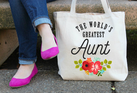 The World's Greatest Aunt Tote Bag