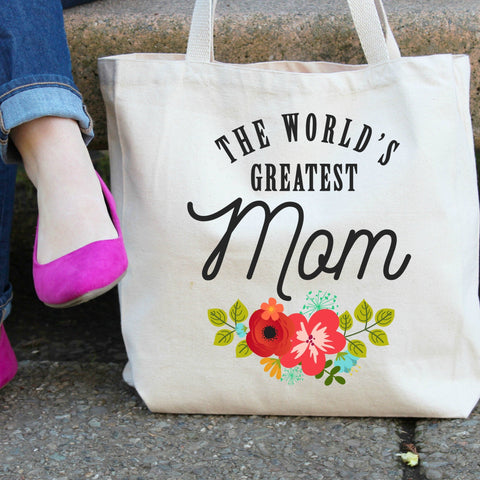 The World's Greatest Mom Tote Bag