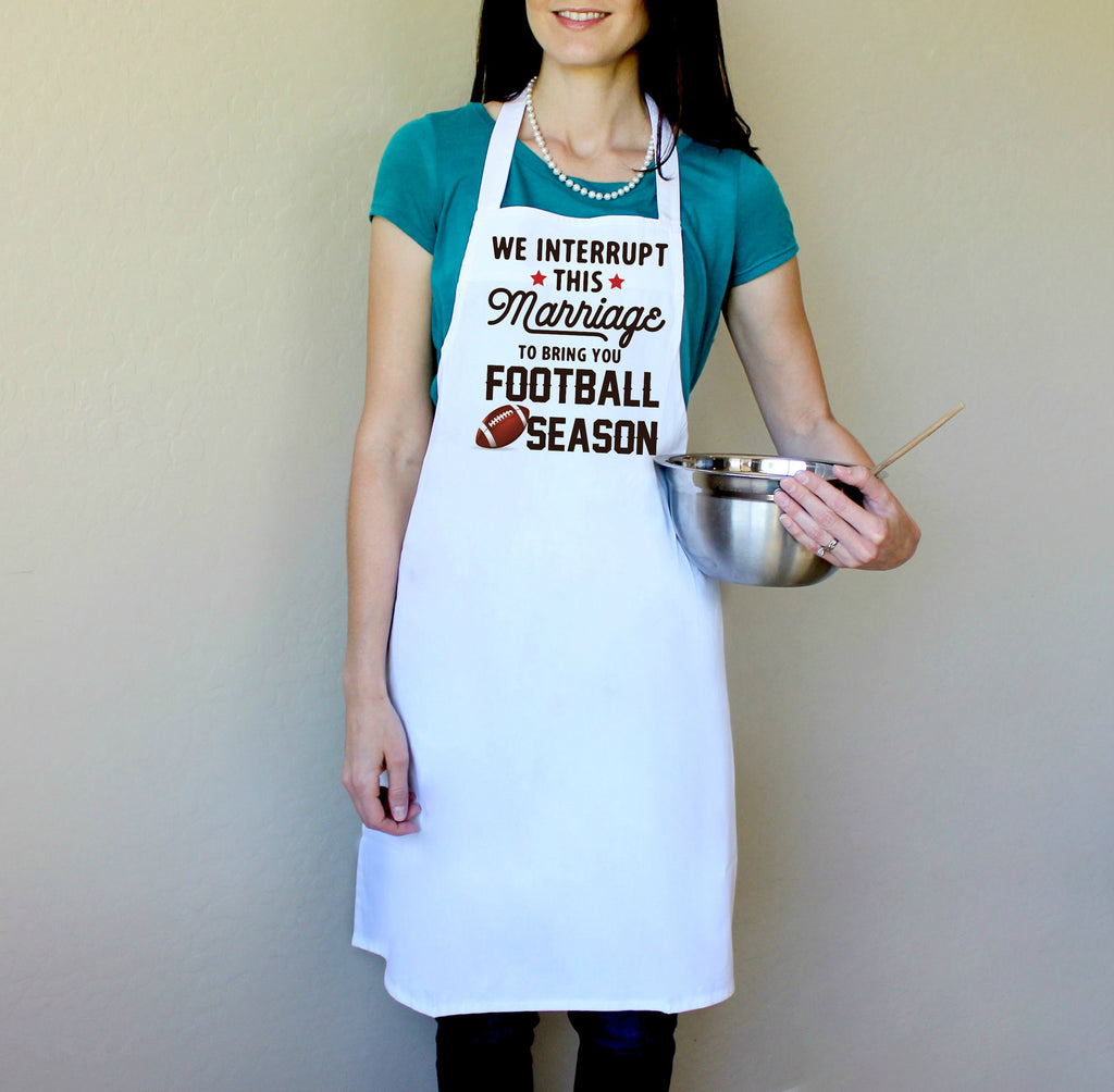 We Interrupt This Marriage to Bring You Football Season Apron