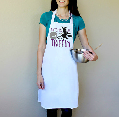 Witches Be Trippin' Halloween Apron