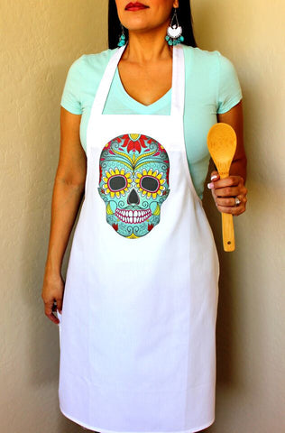 Day of the Dead Skull Apron