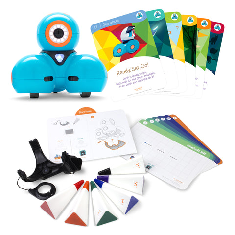 Dash Robot with Dash Challenge Cards + Sketch Kit Bundle