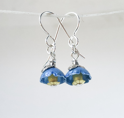Adele Stewart Maker, Handmade in New Zealand, buy NZ made, Shop local, Himalayan Poppy, Poppy, Earrings,