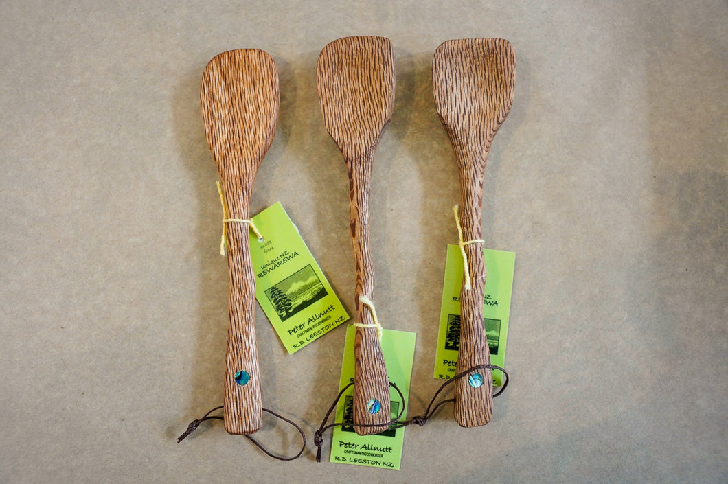 Wooden, Jam Spoon, Handmade in New Zealand, Rewarewa,