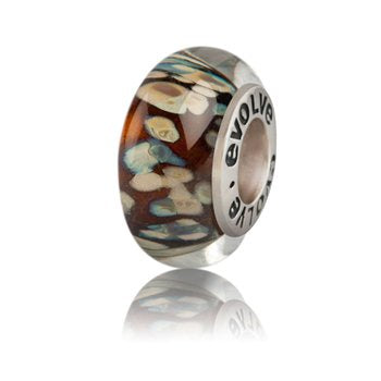 New Zealand Charm, Evolve, Akaroa, Murano Glass, Sterling Silver, Designed in NZ