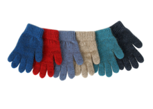 Load image into Gallery viewer, Single thickness, cozy, warm and soft New Zealand made children's gloves.   These gloves are made from a luxurious blend of possum fur and superfine New Zealand Merino wool.