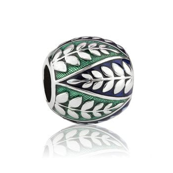 New Zealand Charm, Evolve, Murano Glass, Sterling Silver, Designed in NZ, Enamel, Coastal Fern,, local,
