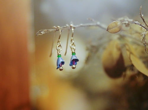 Blue Borage Earrings