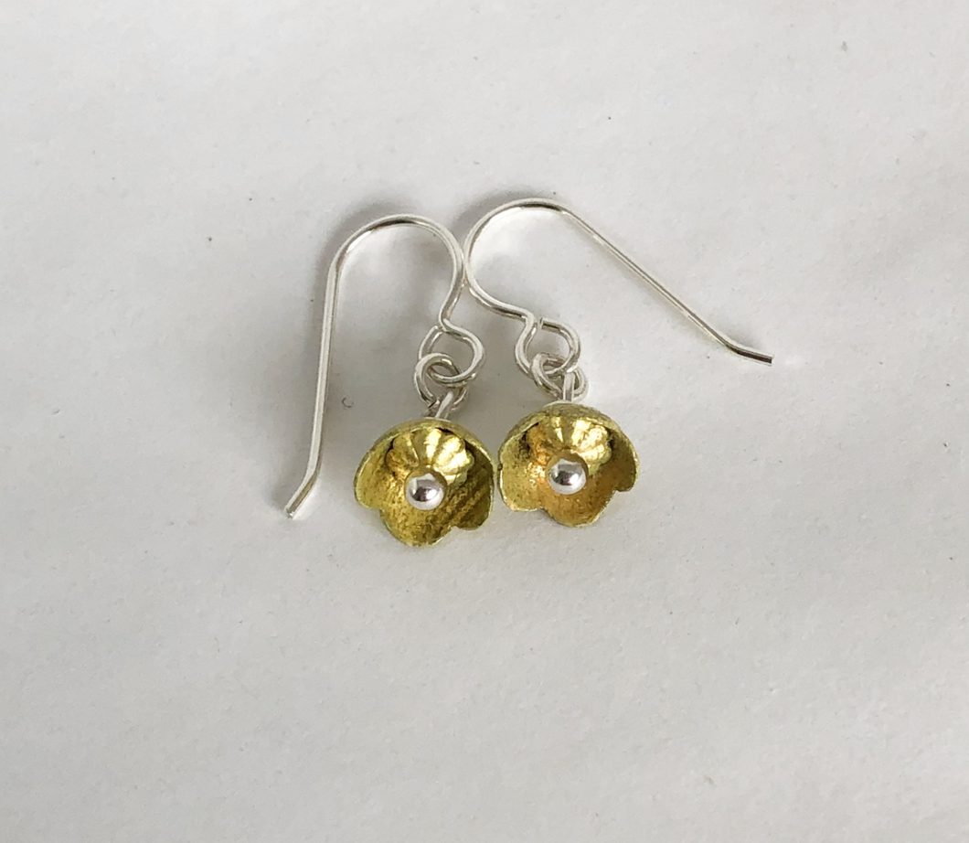 Adele Stewart Maker, Handmade in New Zealand, buy NZ made, Shop local, Buttercup Earrings,