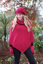 Load image into Gallery viewer, Made in New Zealand, Shop Local, Lothlorian, Alpaca, NZ Made in New Zealand, Shop Local, Lothlorian, Alpaca, NZ , Poncho, gloves, beanie,