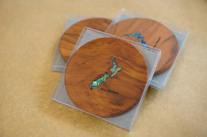 Wood & Paua Coaster