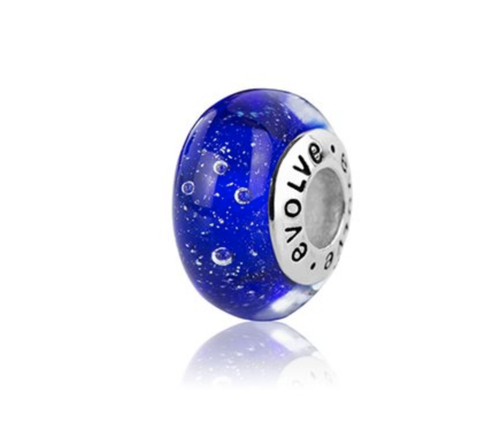 New Zealand Charm, Evolve, Murano Glass, Sterling Silver, Designed in NZ, Local, Southern Cross, New Zealand Sky, NZ,