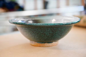 Large Green Pottery Bowl