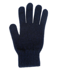 Single thickness glove with elasticated rib cuff. Possum Merino, Made in New Zealand, Lothlorian