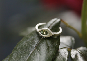 Adele Stewart Maker, Handmade in New Zealand, buy NZ made, Shop local, Sapphire, Ring, Green,