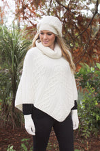 Load image into Gallery viewer, Made in New Zealand, Shop Local, Lothlorian, Alpaca, NZ , Poncho,Made in New Zealand, Shop Local, Lothlorian, Alpaca, NZ , Poncho, gloves, beanie,