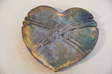 Load image into Gallery viewer, Raku (pottery) Heart, Made in New Zealand, Handmade