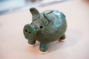 Pottery Piggy Bank, Handmade in New Zealand