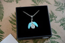 Load image into Gallery viewer, Handmade in New Zealand by Adele Stewart, pendant, blue beetle
