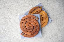 Load image into Gallery viewer, Rimu, Coasters, West Coast NZ, Made in New Zealand, Shop Local, Shop Kiwi, Paua, Handmade