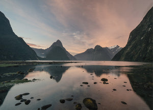 Milford Sound on Sunset